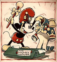 Disney and Christmas: a gift for Mickey; Walt Disney illustration.