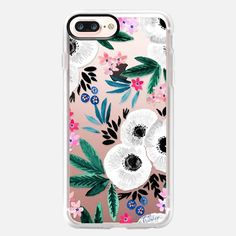 Casetify iPhone 8 Classic Grip Case - Posie Colorful Floral Clear by Crystal Walen Cute Phone Cases, Iphone 7 Plus Cases, Latest Iphone, Apple Watch Models, Apple Watch Series 2, Tech Accessories, Casetify, Floral