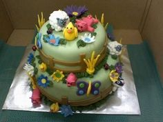 So this was the work of me and my two closest friends, it was inspired by a few cakes from CC so thanks!!! All details are fondant. Thanks f...