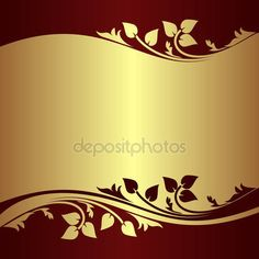 Luxury golden Background decorated Border with floral elements. — Stock Vector © natali123457 #34739813