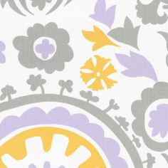 The fun Suzani print is paired with our Lilac Chelsea dots to create the perfect dream bedding for your little girls nursery. Description from babybedding.com. I searched for this on bing.com/images