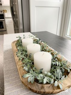 Dining Room Centerpiece, Dining Room Table Centerpieces, Table Decorations, Farmhouse Dining Room Table, Farmhouse Kitchen Decor, Diy Kitchen, Kitchen Ideas, Dining Table, Rustic Decor