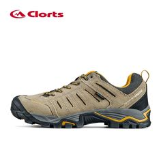 42.33$  Buy now - http://ali70e.shopchina.info/1/go.php?t=32628721103 - Clorts 2016 Men Trekking Shoes Waterproof Suede Leather Hiking Shoes Slip Resistant Outdoor Shoes Khaki  #buyonlinewebsite