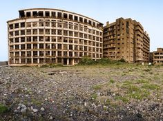 GUNKANJIMA Nagasaki, Japan  More than 10,000 people lived on this tiny Japanese island up until the 1970s. Once home to an active coal mining facility owned by Mitsubishi Motors, Gunkanjima (or, literally, Battleship Island) is now entirely abandoned.