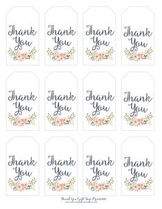 photograph relating to Thank You Printable Tag named thank yourself tags template -