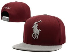 Polo Snapback Hats Wine Brim Gray|only US$6.00 - follow me to pick up couopons.