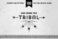 Hand drawn tribal design vector pack by SoNice on Creative Market