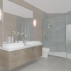 Image result for contemporary grey master bathroom