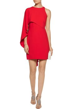 Shop on-sale Halston Heritage Draped crepe mini dress. Browse other discount designer Dresses & more on The Most Fashionable Fashion Outlet, THE OUTNET.COM