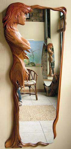 Design Mirror - wood by ayhantomak.deviantart.com