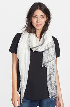 Black shirt with any kind of scarf