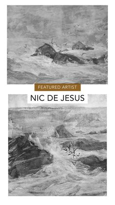 South African artist Nic de Jesus is our featured artist this month. Browse online at StateoftheART, shipping worldwide. Charcoal Artists, Artist Film, South African Artists, Water Me, Landscape Drawings, Rembrandt, Natural World, Online Art Gallery, Art History