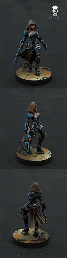 The Internet's largest gallery of painted miniatures, with a large repository of how-to articles on miniature painting Sci Fi Miniatures, Warhammer 40k Miniatures, Infinity Models, Corvus Belli Infinity, Miniature Painting Service, Infinity The Game, Miniature Figurines, Mini Paintings, Figure Model