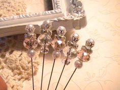 Shabby Chic Stick Pins
