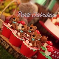 Picnic themed cupcake teddy bear cupcake
