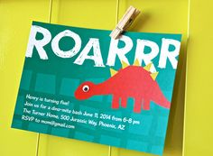 Dinosaur Birthday Party Invitations - Personalized, Printable Dino Party Invites on Etsy, $9.49