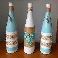 Resultado de imagen para garrafas de vidro decoradas