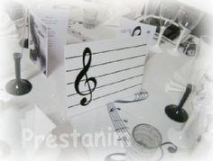 Marque-table musique clef de sol
