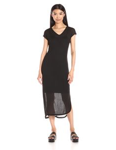 Vero Moda Women's Nadya Short Sleeve V Neck Knit Calf Dress