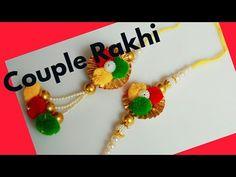 Rakhi making at home।। Couple rakhi set Handmade Rakhi Designs, Handmade Design, Raksha Bandhan Drawing, Raksha Bandhan Photos, Rakhi Making, Beaded Bracelet Patterns, Diy Gifts, Projects To Try, Make It Yourself