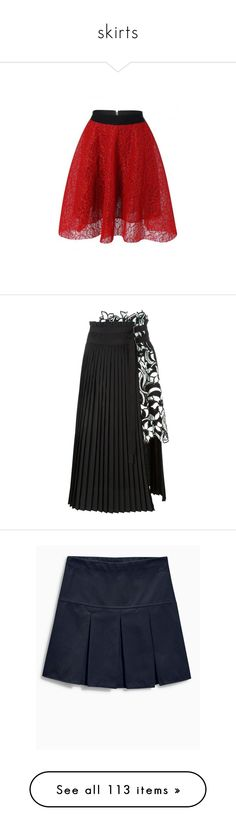 """""""skirts"""" by susans-sg ❤ liked on Polyvore featuring skirts, red skirt, lace skirt, high-waisted flared skirts, red high waisted skirt, high waisted skater skirt, black, floral lace skirt, mid length skirts and high-waist skirt"""