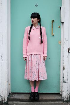 Happy 4th April - it's not a holiday or anything we just wanted to wish you a good day :)  http://www.thewhitepepper.com/collections/knitwear/products/beehive-knit-jumper-pink  http://www.thewhitepepper.com/collections/dresses/products/shirt-dress-in-floral-print