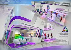 Creative Point of purchase displays and exhibition booths for trade-shows created by TriadCreativeGrou. inspired by artistic design and architecture similar to the image above. Kiosk Design, Display Design, Retail Design, Exhibition Stall, Exhibition Booth Design, Exhibit Design, Stand Feria, Expo Stand, Displays