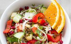 Sprouts Salad Recipe is very healthy and delicious options for people looking for Diet Recipe .A bowl of sprouts salad will keep you full for hours. Appetizer Recipes, Salad Recipes, Healthy Salads, Healthy Recipes, Pomegranate Salad, Roasted Cherry Tomatoes, Sprouts Salad, Paleo Vegan, Bean Salad