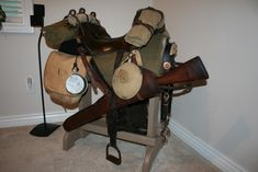 Pattern 1859 McClellan saddle with field equipment   Rob's ...