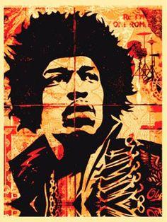 Hendrix / Shepard Fairey via obeygiant.com