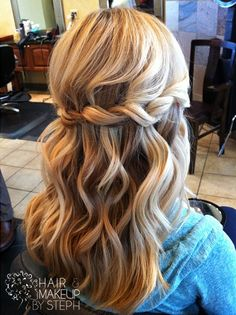 do like a waterfall braid, letting the oter strand fall.