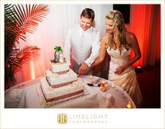 Bride, Groom, Cake, Red, Reception, Tradewinds Island Resort, Wedding Photography, Limelight Photography, www.stepintothelimelight.com