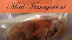 Meal Management Tips Freezer Meals, Quick Meals, At Home With Nikki, Management Tips, Nutrition Tips, Frugal Living, Real Food Recipes, Meal Planning, Dinner Recipes