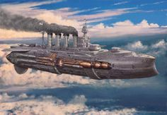 steampunk airships battle - Google Search