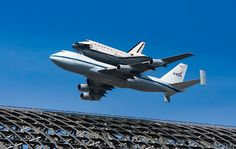 The Space Shuttle Endeavour and Hangar 1