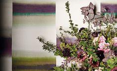 Ombra Wallcovering Nightshade | Kansai | Papel Pintado Estampado | Black Edition | Telas de diseñador & papeles pintados, Telas para tapicería Black Edition, Home Collections, Color Show, Fabric Design, Weaving, Colours, Pattern, Painting, Turtle Dove