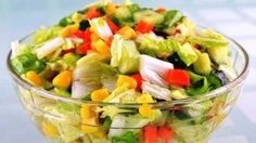 Vegetable salad «Color».Salad without mayonnaise.