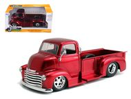 1952 Chevy COE PickUp Truck Red Chrome Wheels 1/24 Scale Diecast Model By Jada 97460