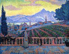 The Athenaeum - The Terrace, Saint-Tropez (Paul Signac - )