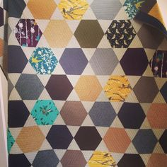 Beautiful! A quilting project in process from @little_ms_sewitall