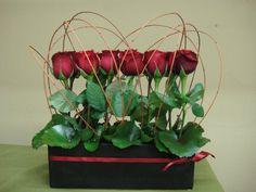 Valentine's Day Floral Arrangements - Wholesale Flowers & Supplies San Diego - 1 dozen modern rose hedge