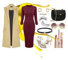 """""""Splash of Marsala"""" by jakiishoes on Polyvore featuring Oasis, Trish McEvoy and Dolce Vita"""