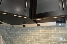 Under cabinet outlets and LED lights from Task Lighting.