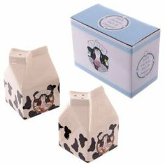 Cow Pattern Milk Carton Salt & Pepper Set by puck. $8.58. Cow Pattern Milk Carton Salt & Pepper SetEach kitchenware item is made from ceramics. This item is food safe but is not suitable for use in the dishwasher or microwave.Each item is priced individually and comes packaged in a decorative Ted Smith designed gift box.
