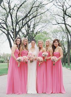 Pink Bridesmaid Dresses | Lani Elias Fine Art Photography