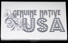 Genuine Native USA American Engraved Business ID Card Case Holder Gift BUS-0224