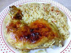 ΜΑΓΕΙΡΙΚΗ ΚΑΙ ΣΥΝΤΑΓΕΣ 2: Μπουτάκια κοτόπουλου στο φούρνο με ρυζάκι κίτρινο !!!! Greek Recipes, Easy Recipes, Chicken Parmesan Recipes, Recipies, Easy Meals, Rice, Meat, Cooking, Anastasia
