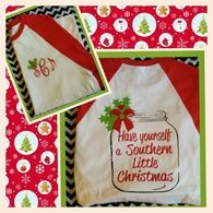 Front and back of Southern Christmas Tee
