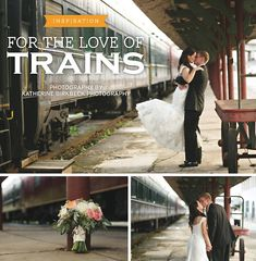 View more from this Knoxville wedding inspiration by Katherine Birkbeck Photography featuring a fun train theme. | The Pink Bride® www.thepinkbride.com