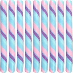 "Handcrafted Circus Candy Stick Cotton Candy (7.5"" Long)"
